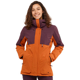 Salomon Proof LT Chaqueta Aislante Mujer, umber/wine tasting/heather
